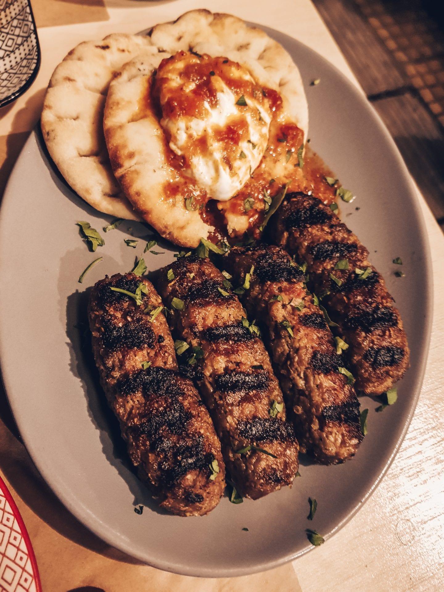 greek food on plate