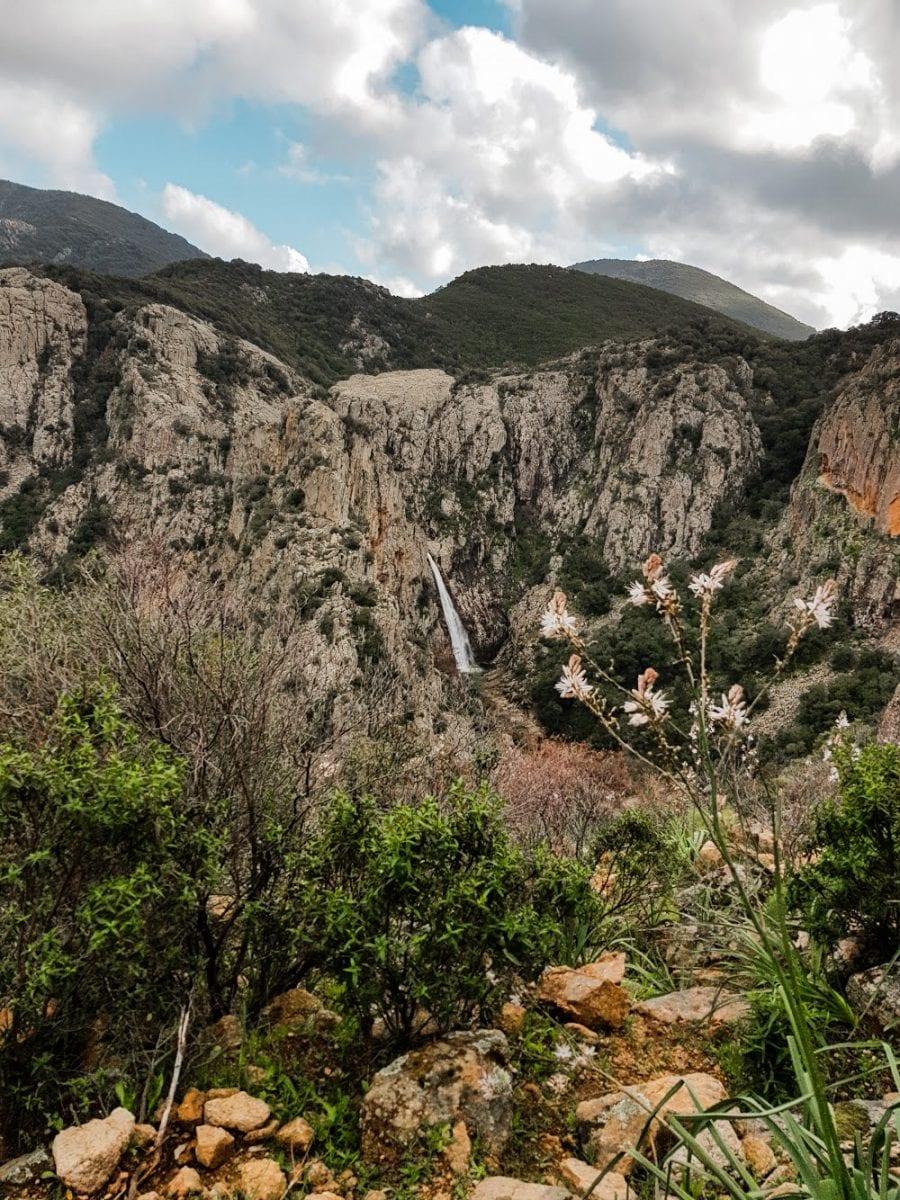 waterfall in sardinia