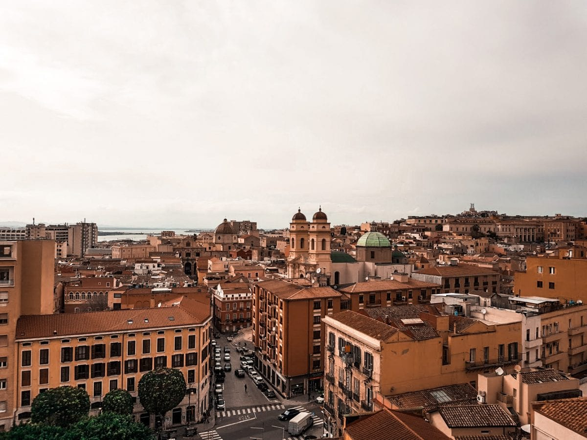 view over cagliari