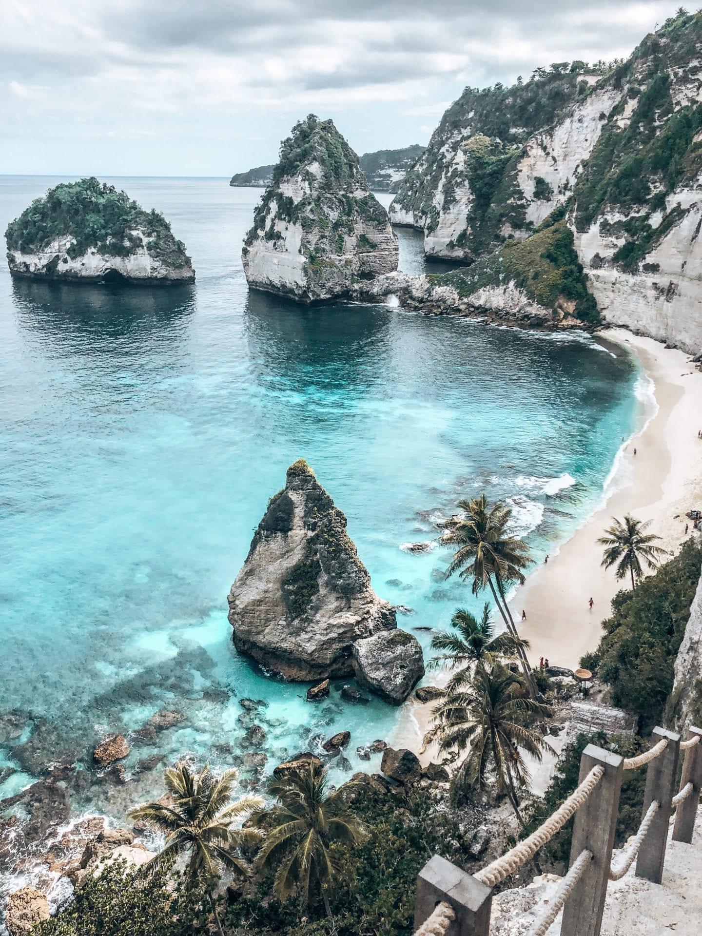 famous diamond beach at nusa penida