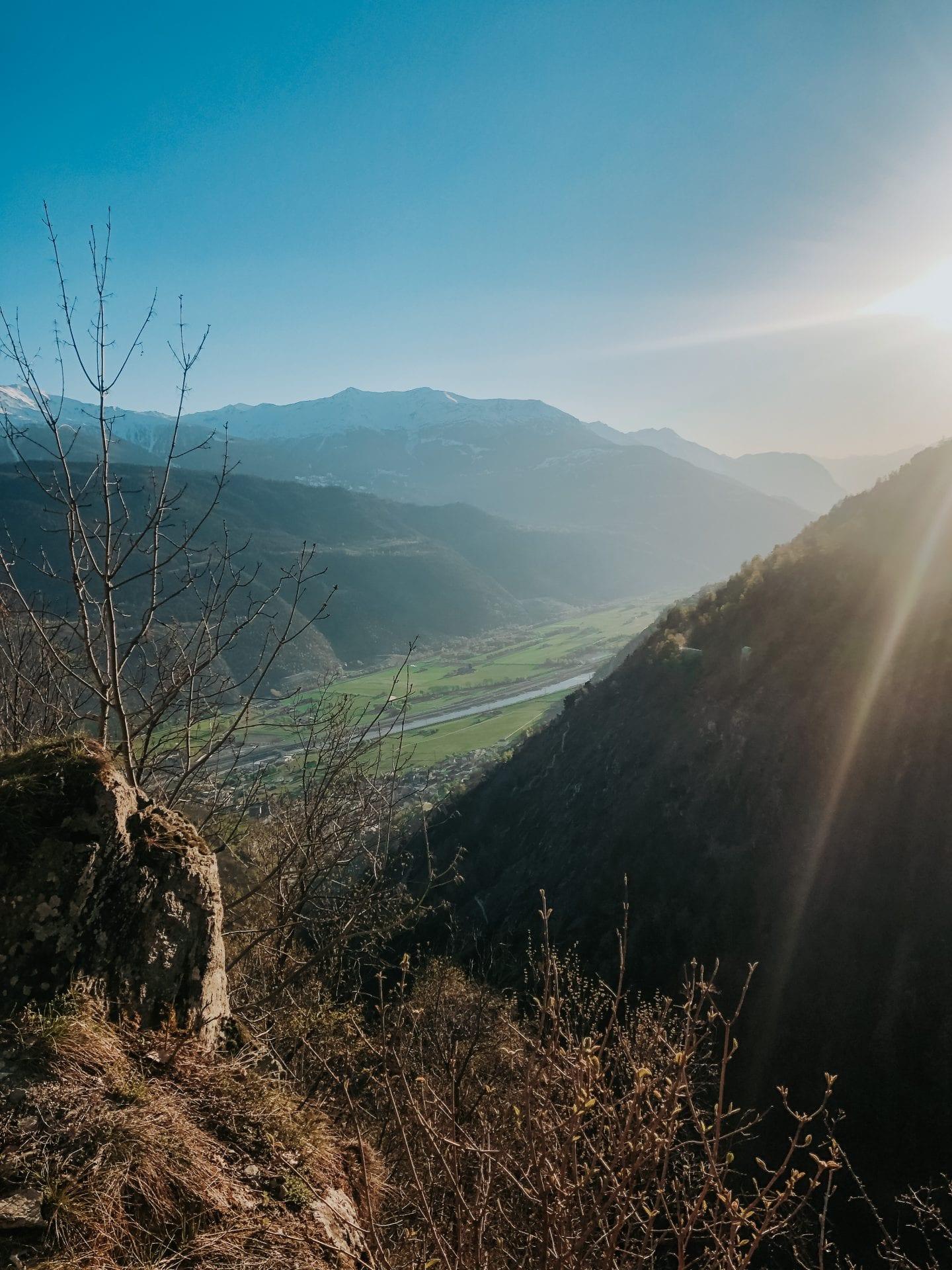 swiss alps in kanton of wallis