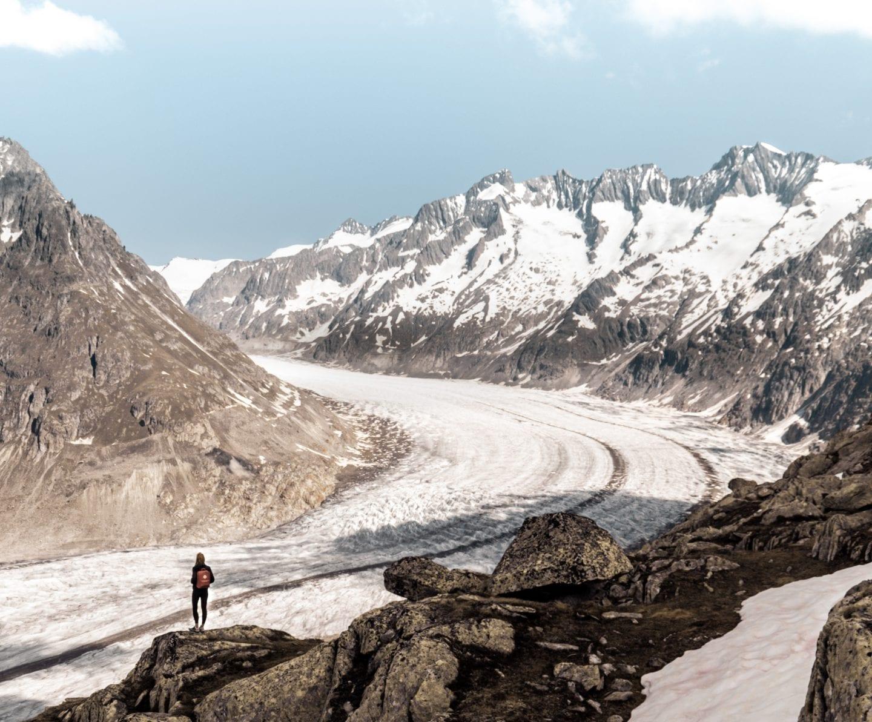 great aletsch glacier, wallis