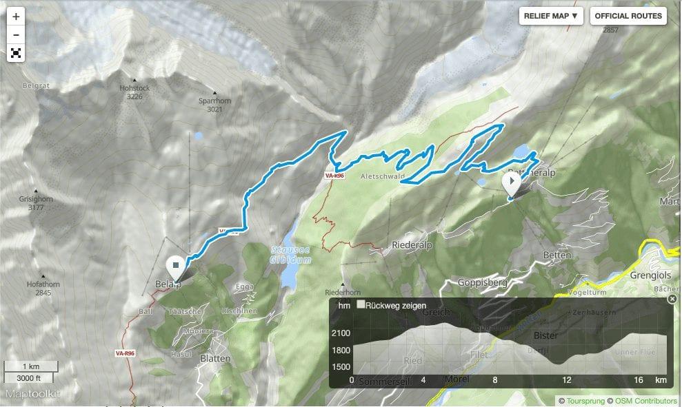 Wandern Wallis: Bettmeralp Belalp Grosser Aletschgletscher Aletschwald