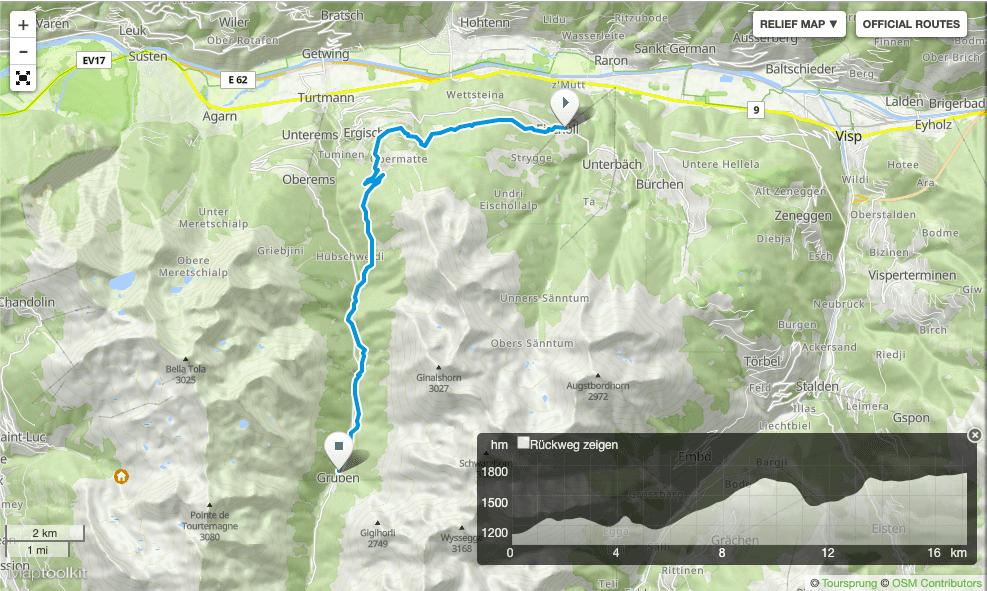 Wanderung Turtanntal Wallis