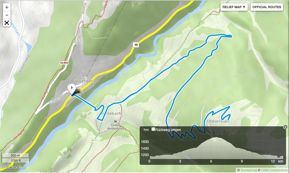 Wanderung Goms Bridge Wallis