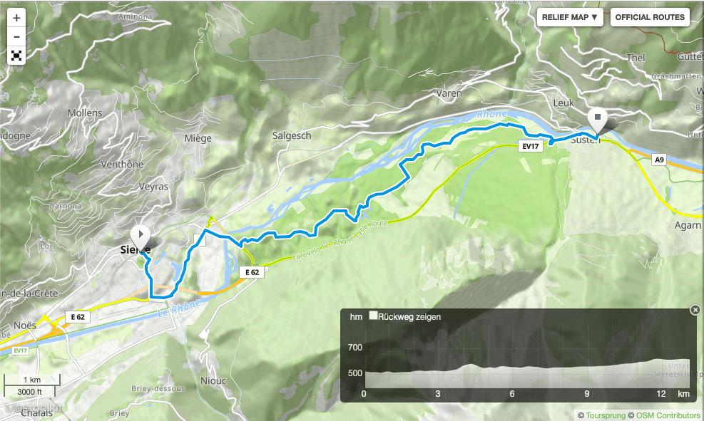 Wanderung Pfynwald Sierre Leuk Wallis