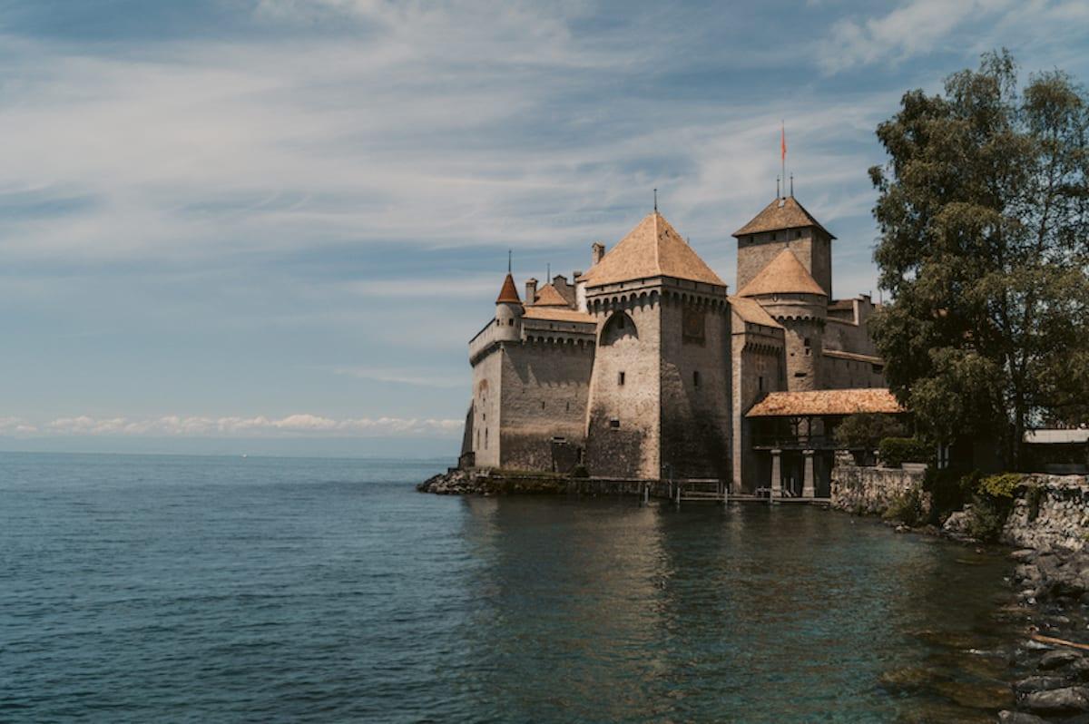 Schloss Chillon am Genfer See in der Schweiz